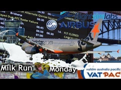 FSlabs A320 YMML - YSSY milkrun, The day the Radars failed.
