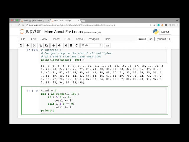 More About For Loops in Python & Solutions to the Last 2 Problems (Python Tutorial #7)
