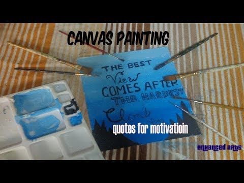 painting on canvas quotes room decor diy idea {ENHANCED ARTS}