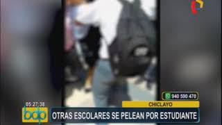 Chiclayo: escolares se pelean a la salida del colegio