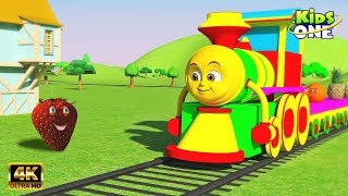 Learn Fruits Names With Kiddo Train   Learn Fruit Song For Kids   English Rhymes   Kidsone