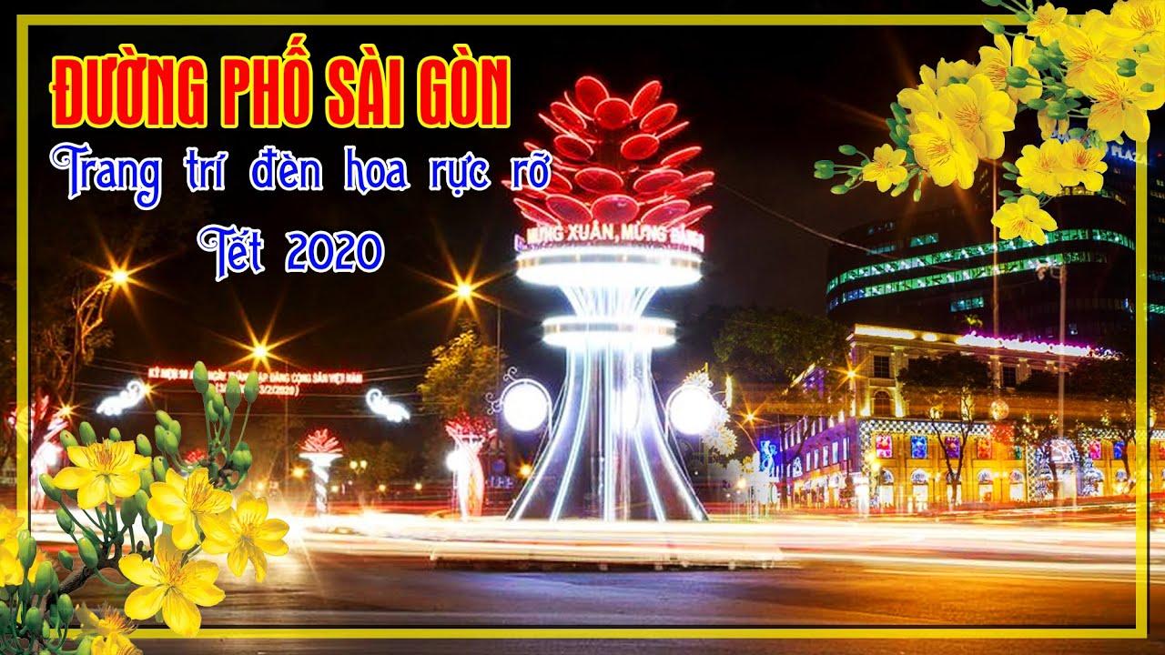 Đường phố Sài Gòn trang trí ánh sáng nghệ thuật – Đón Tết 2020 | #Người_Miền_Quê