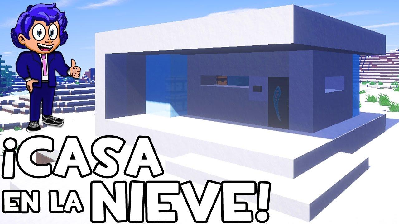 Casa b sica en la nieve para survival minecraft youtube for Casa moderna 7 mirote y blancana