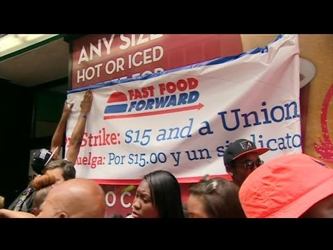 WHAT DO US WAGE PROTESTS MEAN FOR THE FAST FOOD BUSINESS? - BBC NEWS