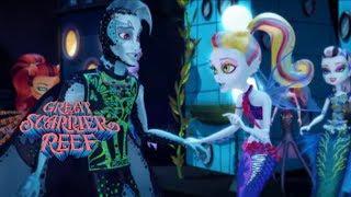 #MonsterHigh мультики для девочек: в гости к Лагуне! Большой Кошмарный Риф Монстер Хай