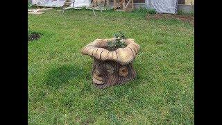 как  сделать  мусорку  в  виде  дерева..  фрагмент  мастер  класса..  обзор