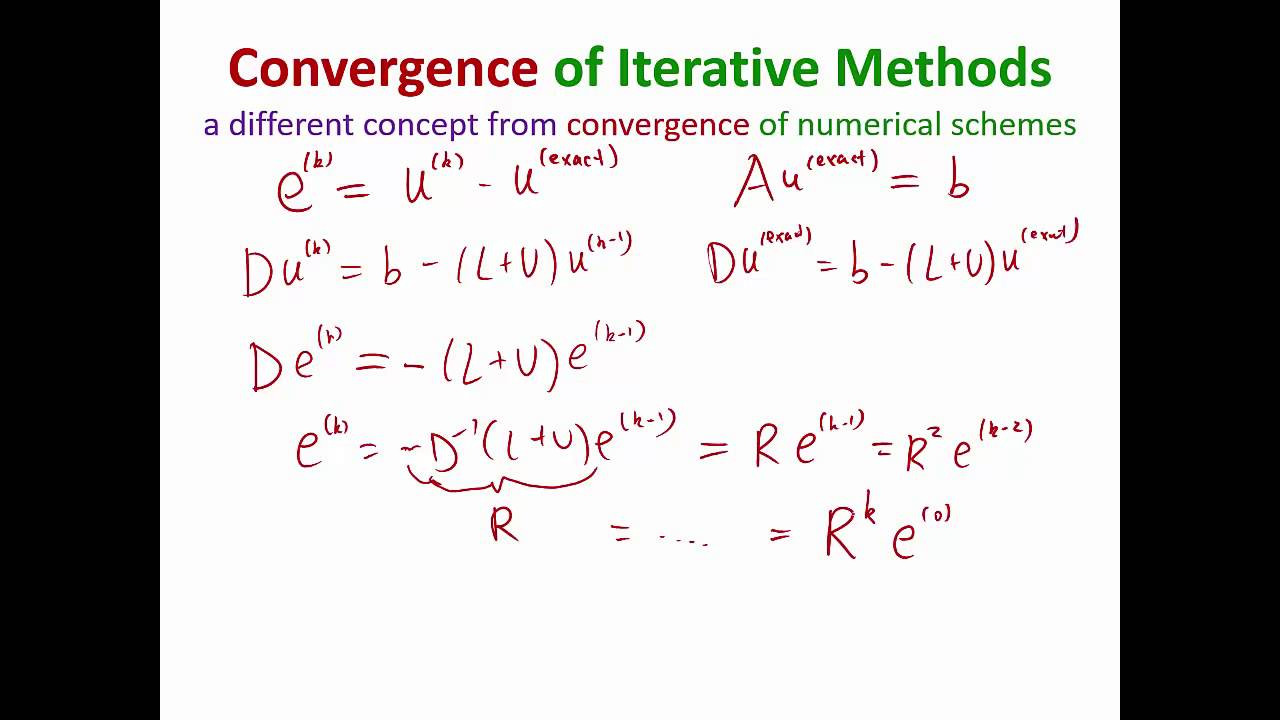 MIT Numerical Methods for PDE Lecture 4: Error analysis of Jacobi Iterations