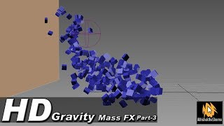 3ds Max -  MassFX Gravity Tutorial - How to use gravity in 3ds max - Focus