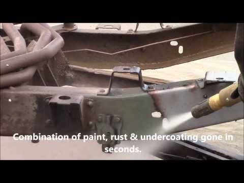 Paint & Rust Removal C-10 Chassis the Dustless Blasting Way!
