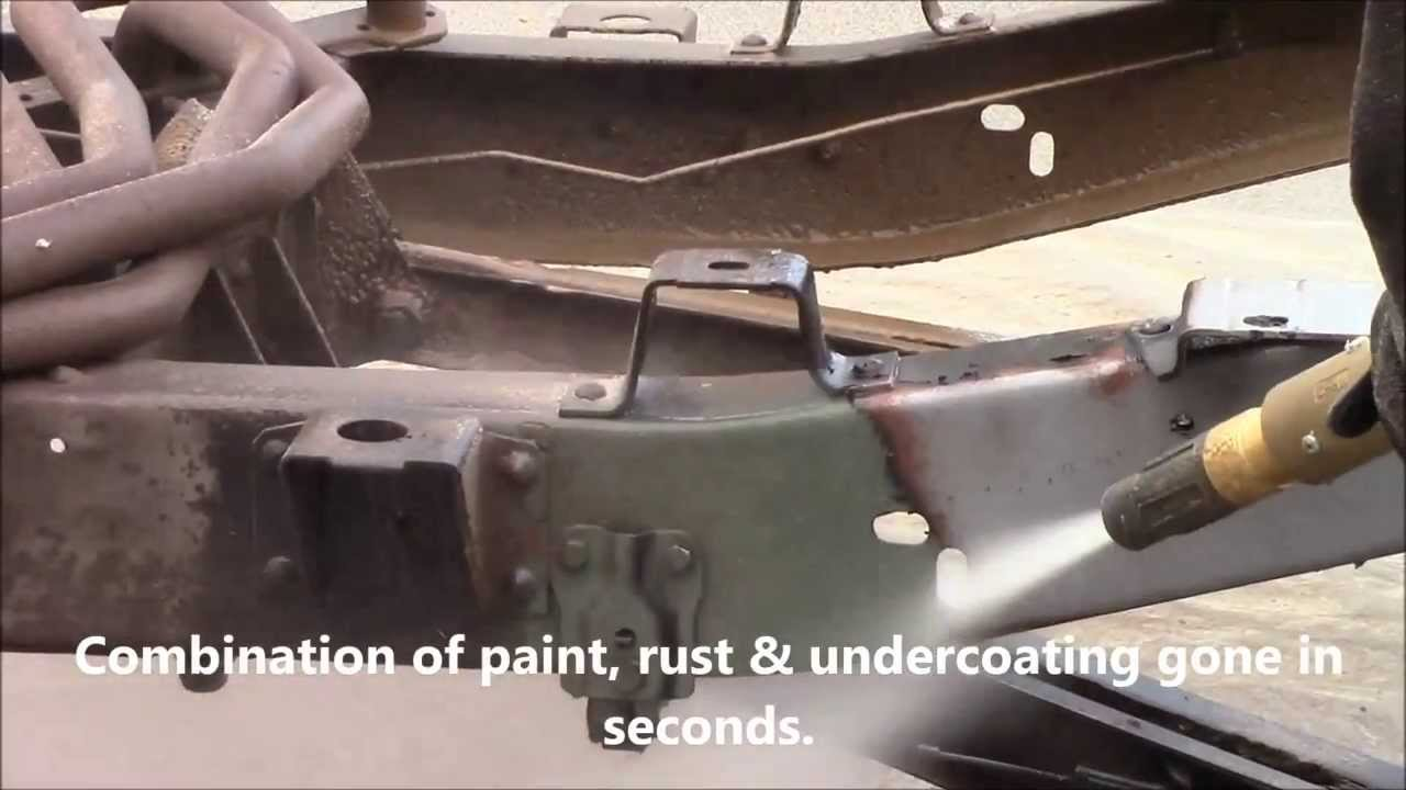 Paint Rust Removal C 10 Chassis The Dustless Blasting Way Youtube