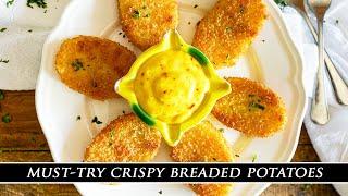 Mouth-Watering Crispy Potatoes With Spanish Aioli | Patatas Rebozadas Recipe