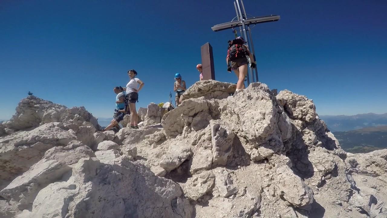Sass Rigais Klettersteig Villnöss : Via ferrata sass rigais klettersteig august youtube