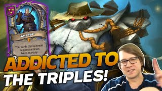 NEW PATCH! Addicted to Triples! | Hearthstone Battlegrounds | Savjz