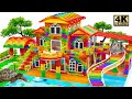 - Build Miniature Mansion has Swimming Pools and Slide for Turtle and Hamster  From Magnetic Balls