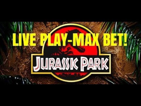 ESCAPING JURASSIC PARK SLOT MACHINE WITH THE WIN!