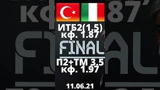 Турция Италия прогноз 11 06 Евро 2020 прогнозы на футбол ставки на футбол ставки на спорт