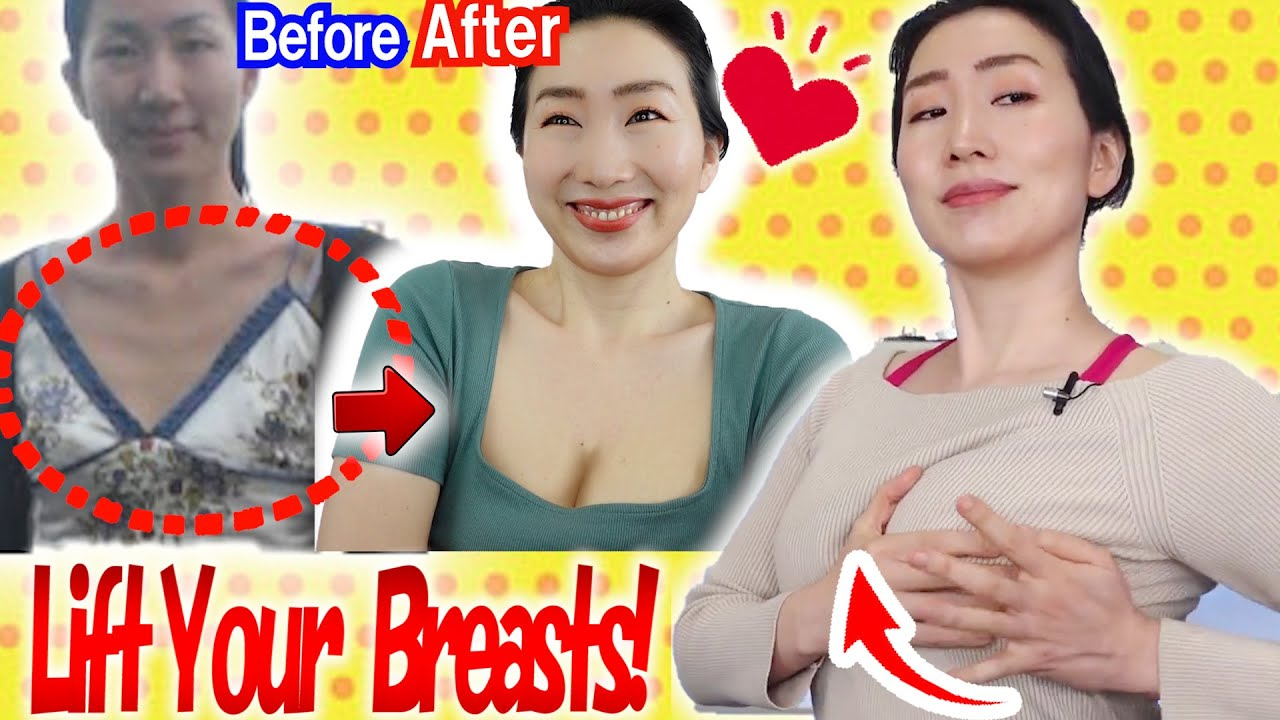 How to Lift and Firm Up Sagging Breasts in 3 Weeks with Healing Deep Tissue Massage u0026 Exercises