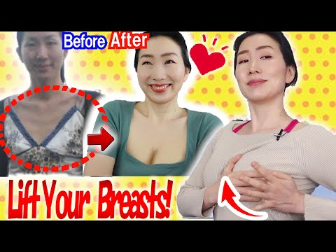 How to Lift and Firm Up Sagging Breasts in 3 Weeks with Healing Deep Tissue Massage & Exercises