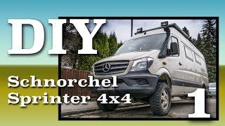DIY - Montage Bravo Schnorchel am Sprinter 906 4x4