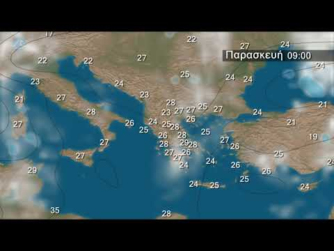 Weekly Weather Forecast for Greece and SE Europe (Video from 10 June 2019)