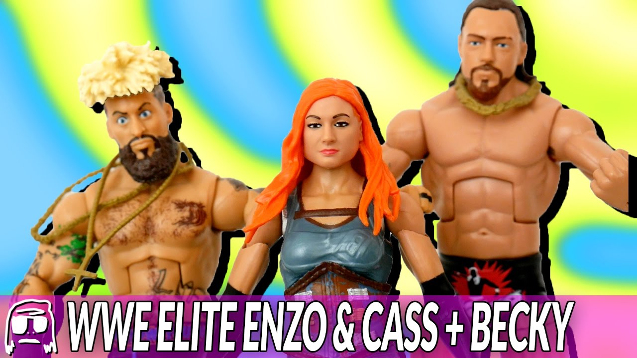 wwe elite 49 enzo amore big cass becky lynch toy unboxing review