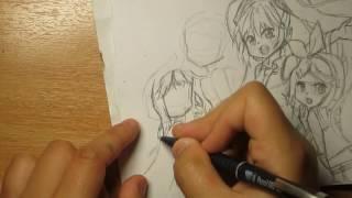 How to draw Meiko, Miku Hatsune ,Kagamine Rin , Megurine Luka ,Gumi ,SeeU ,Yuzuki ,IA