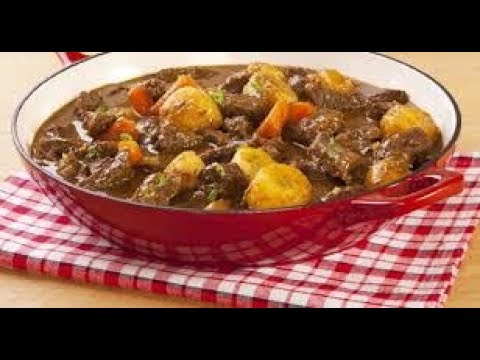 Egyption recipe for potatoes with tomato sauce and meat [English]