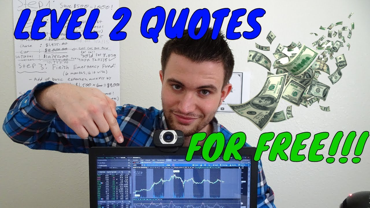 How To Get Level 2 Quotes On TD Ameritrad Think Or Swim For FREE!