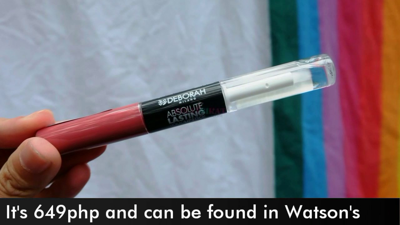Swatch And Play Deborah Milano Absolute Lipstick Youtube