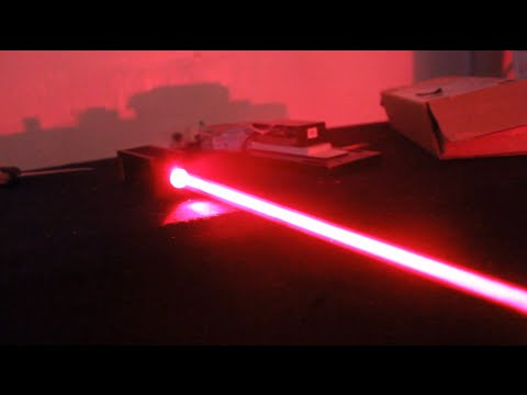 Thick Beam 5W Red Laser Fun + 'Laser Cannon' Updates
