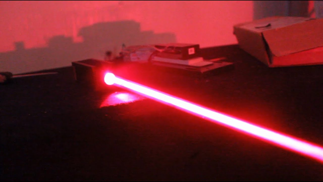 "Thick Beam 5W Red Laser Fun + ""Laser Cannon"" Updates - YouTube"