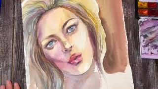 Рисование акварельного портрета