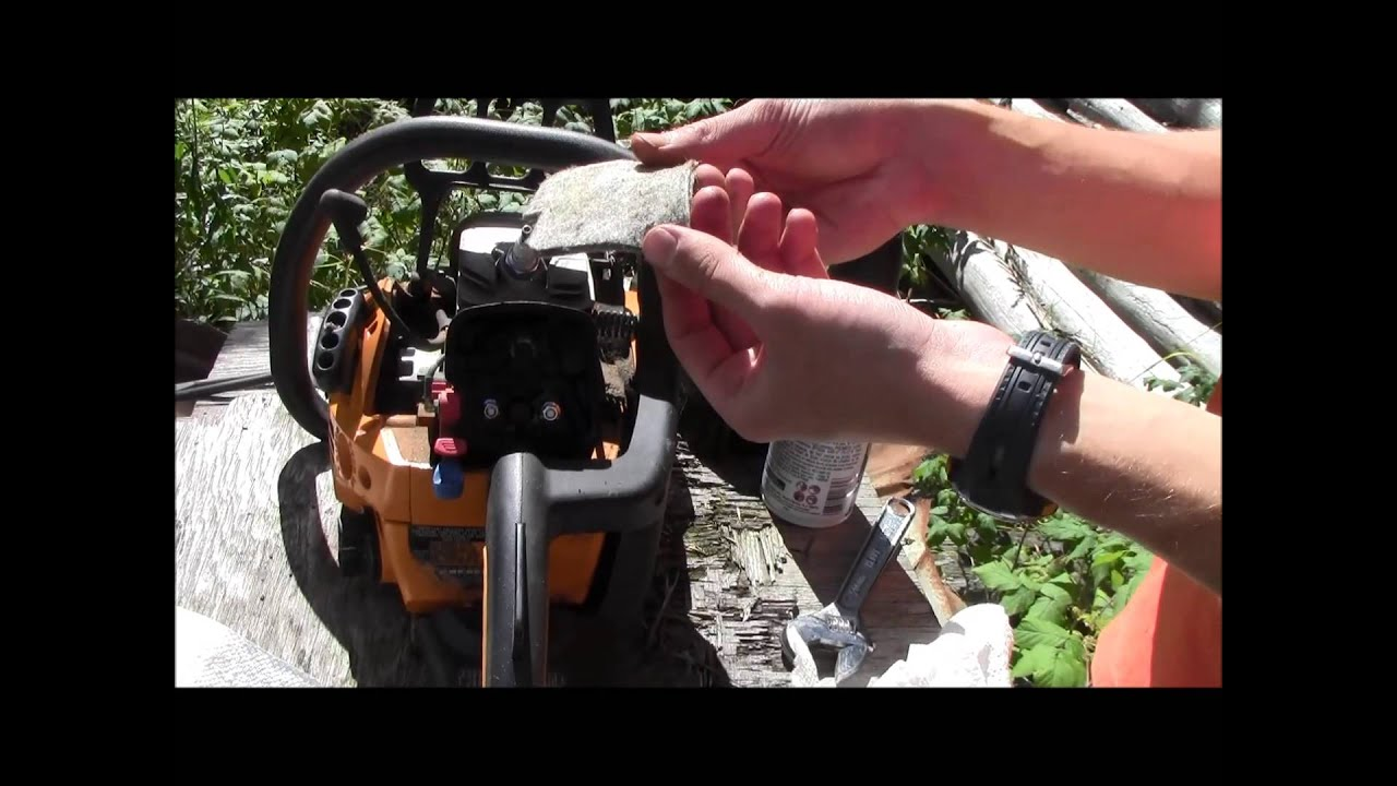 how to service poulan chainsaw spark plug and air filter