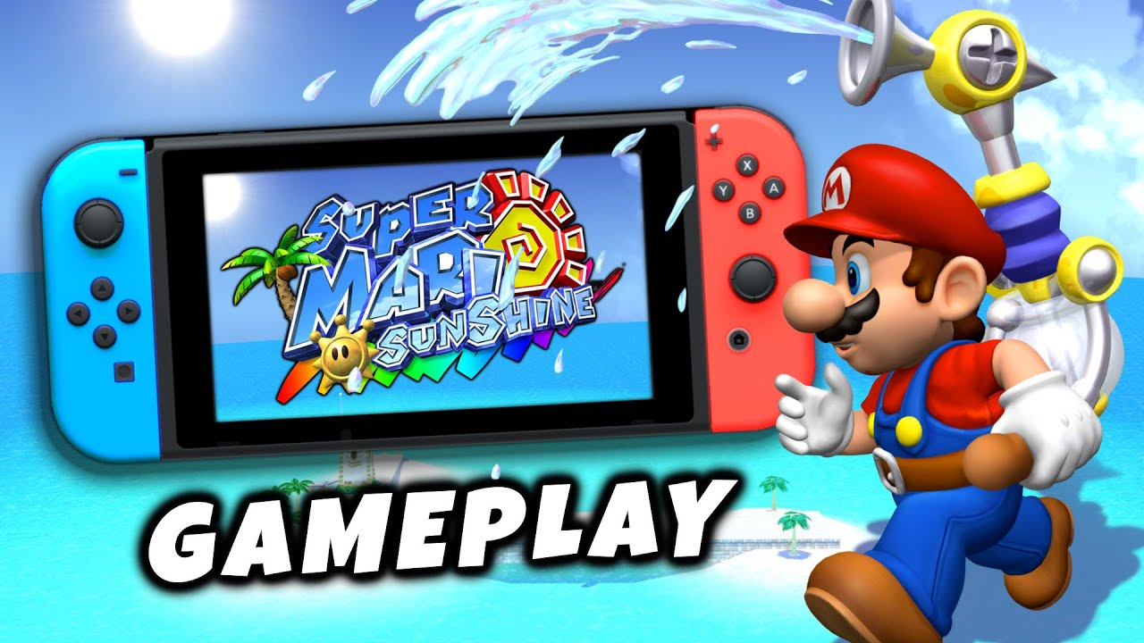 GAMEPLAY de SUPER MARIO SUNSHINE para NINTENDO SWITCH 😮 ¿Se ve bien? Super Mario 3D All Stars