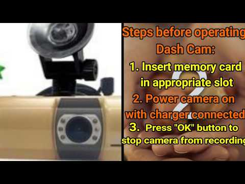 1080P Dual DVR Dash Cam How To Set Night Vision