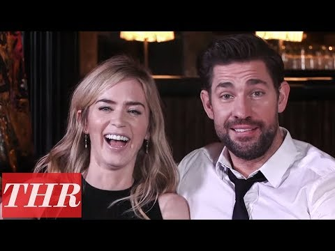 Emily Blunt & John Krasinski Reveal First Celebrity Crushes, Childhood Movie Favorites & More! | THR