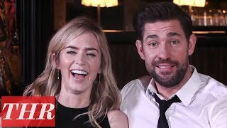 Emily Blunt amp John Krasinski Reveal First Celebrity Crushes Childhood Movie Favorites amp More  THR