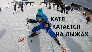 Катя и лыжи! День 2.Горы в Румынии, Синая. Katy is skiing! Mountains in Romania, Sinai