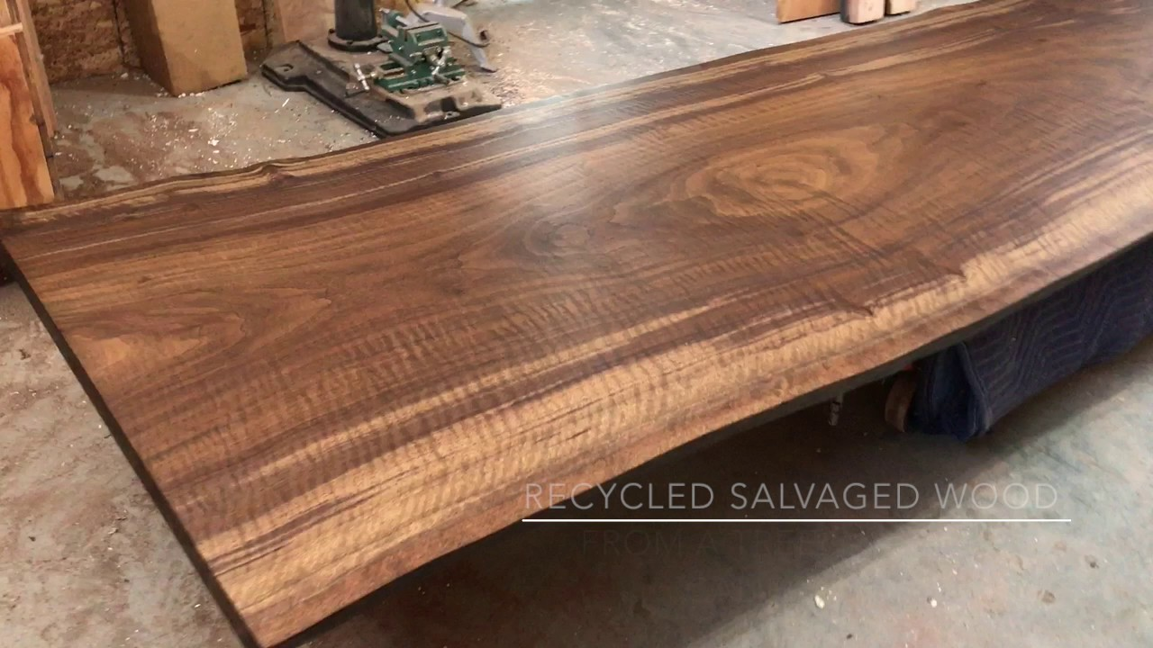 X Live Edge Custom Table Top Made With Recycled Wood And - Refurbished wood table tops