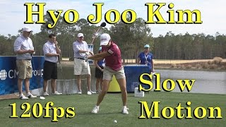 hyo joo kim 120fps slow motion face on driver golf swing cme championship 1080 hd