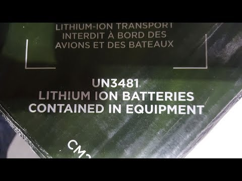 Lithium Battery (ion or metal) Packed in Equipment by Ground Within the U.S.