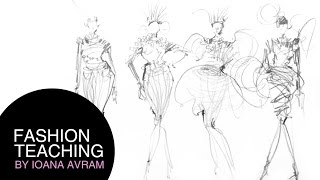 Tips to draw better a fashion sketch in 4 minutes