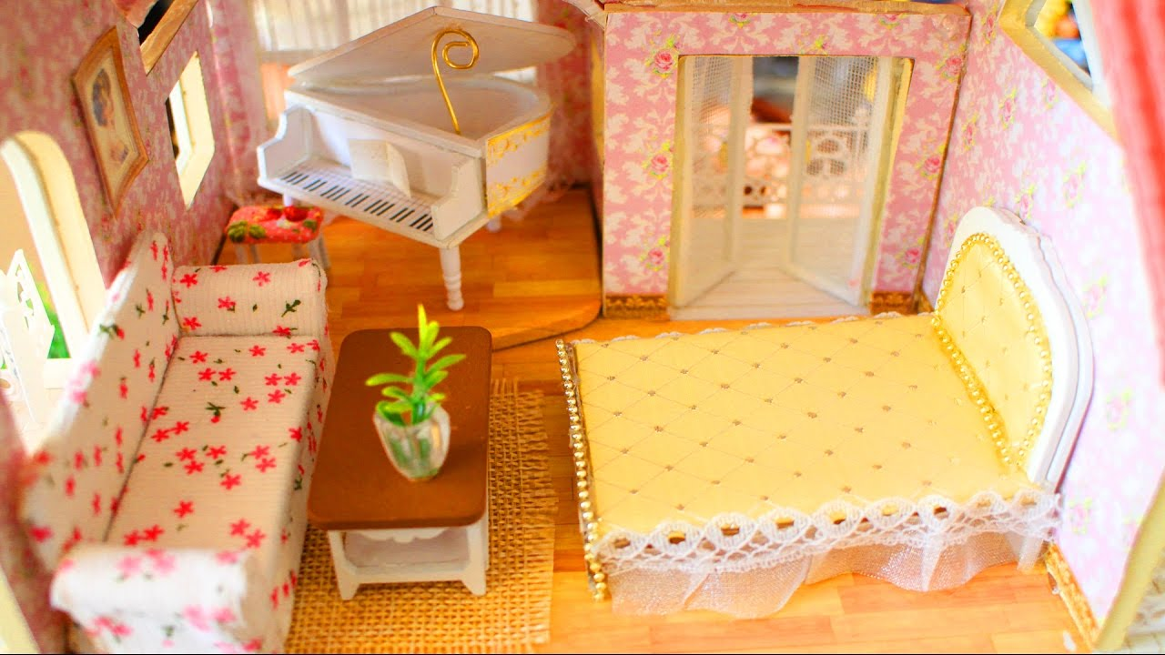 🏡 How To Make Miniature Dollhouse Furniture   DIY Tutorial    Simplekidscrafts   YouTube