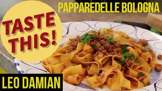 Discover Pappardelle Pasta with Meat Sauce