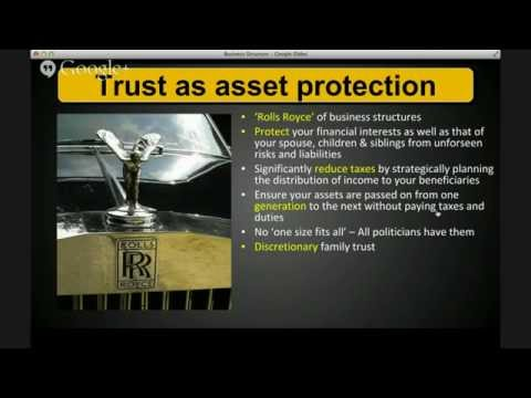 Starting your Business, Business Structure - Trusts