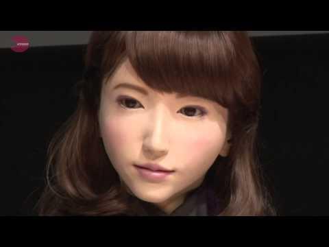 Japan Erica android talking robot