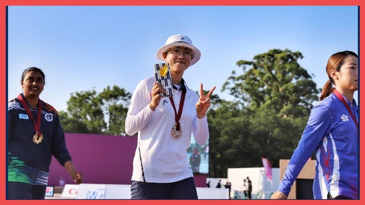 도쿄올림픽 한국 여자양궁 막내 안산 금메달 사상 첫 3관왕 도전