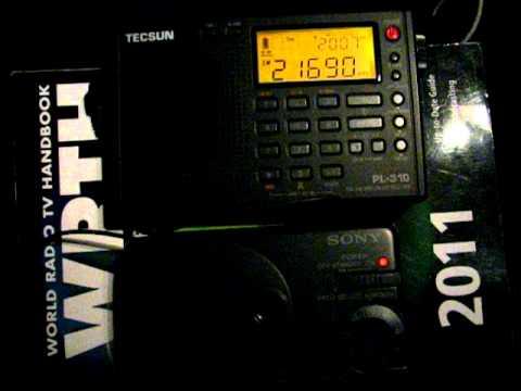 SW: Radio France International 21690 kHz Montsinery, Guyana 2011-12-09