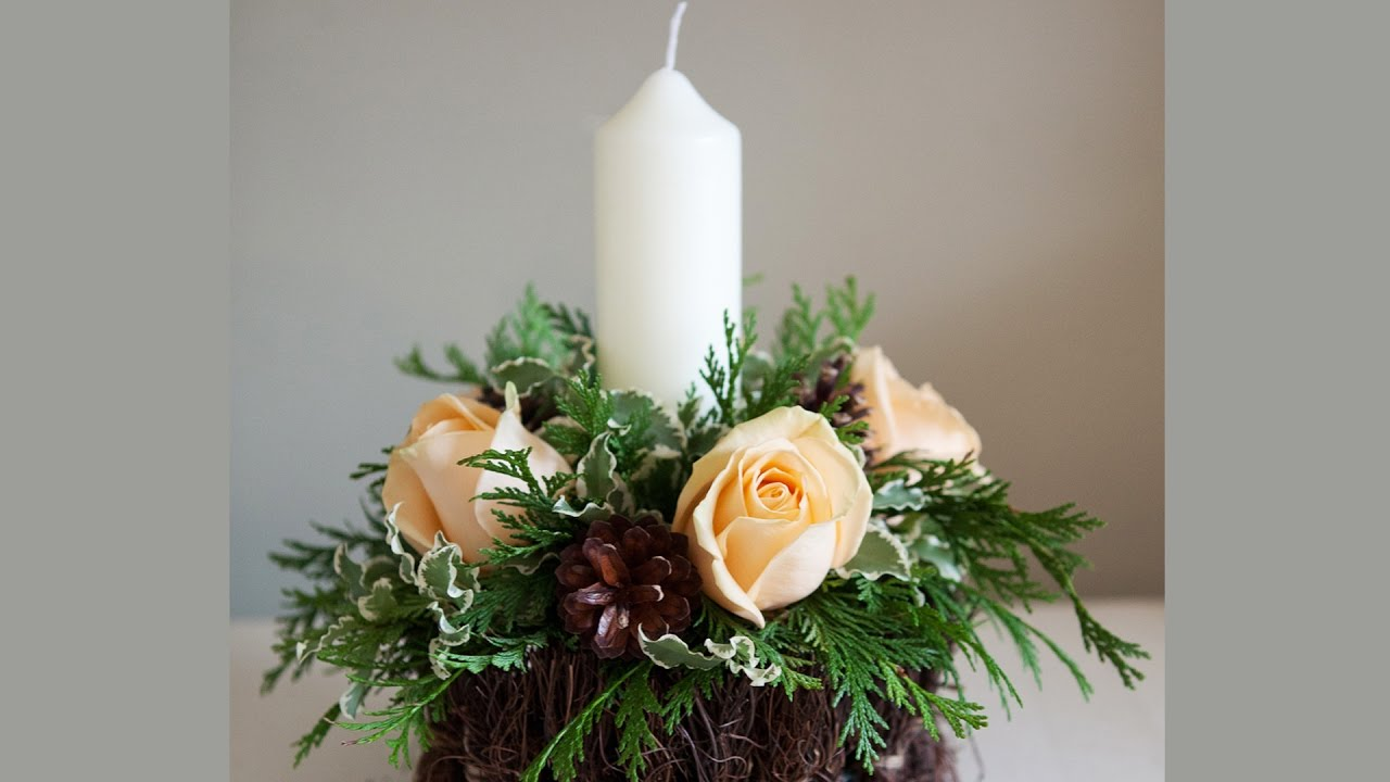 christmas candle centerpieces