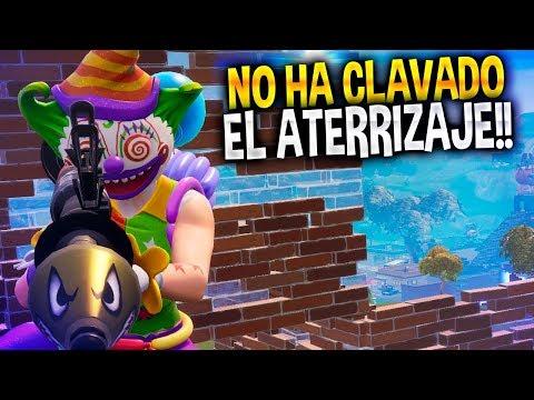 NO HA CLAVADO EL ATERRIZAJE!!!   Fortnite Battle Royale   Rubinho vlc